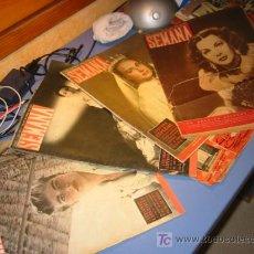 Coleccionismo de Revistas y Periódicos: 4 REVISTAS SEMANA AÑOS, 1945-1952 -1953-1953. Lote 21293849