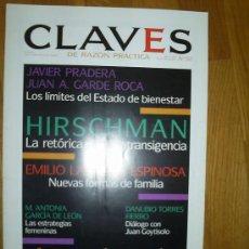 Coleccionismo de Revistas y Periódicos: CLAVES DE RAZÓN PRÁCTICA AÑO: 1995, NÚMERO: 50. Lote 25873821