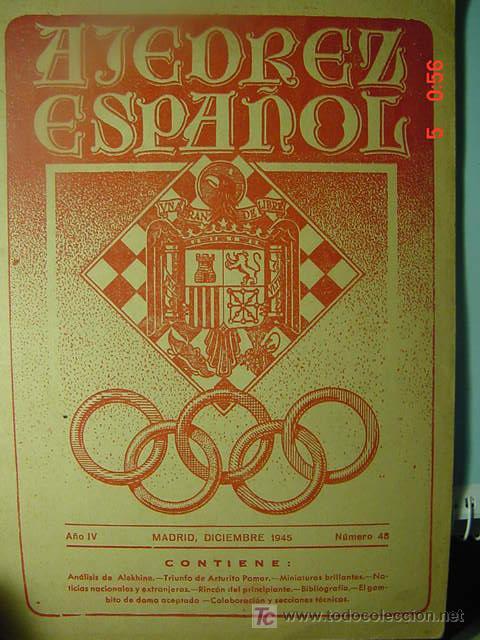 529 REVISTA AJEDREZ ESPAÑOL CHESS - ARTURITO POMAR Nº 48 AÑO 1945 - MAS EN MI TIENDA COSAS&CURIOSAS (Coleccionismo - Revistas y Periódicos Modernos (a partir de 1.940) - Otros)
