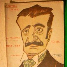 Coleccionismo de Revistas y Periódicos: REVISTA LITERARIA: LA NOVELA TEATRAL. JULIAN ROMEA // LA PRAVIANA. 9 SEPT 1917 . Lote 5587867