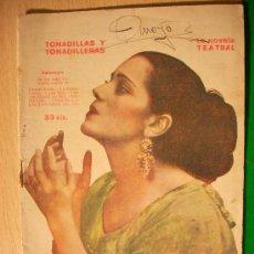 Coleccionismo de Revistas y Periódicos: REVISTA LITERARIA: LA NOVELA TEATRAL. TONADILLAS Y TONADILLERAS. ANTOLOGÍA . Lote 5587956
