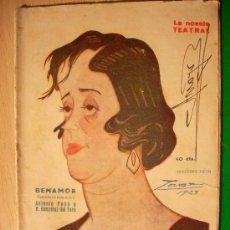 Coleccionismo de Revistas y Periódicos: REVISTA LITERARIA: LA NOVELA TEATRAL. ANTONIO PASO // BENAMOR. 23 SEP 1923 . Lote 5588087