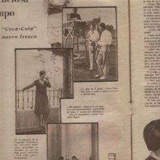 Coleccionismo de Revistas y Periódicos: PUBLICIDAD 15-07-1930 PRIMER ANUNCIO DE COCA-COLA EN ESPAÑA COCACOLA. Lote 5973165