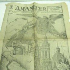 Coleccionismo de Revistas y Periódicos: DIARIO AMANECER, 12 DE OCTUBRE DE 1940 ,ARAGÓN ,ZARAGOZA,. Lote 20926900