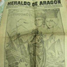 Coleccionismo de Revistas y Periódicos: HERALDO DE ARAGON 12 DE OCTUBRE DE 1940 ARAGÓN ZARAGOZA. Lote 25732626