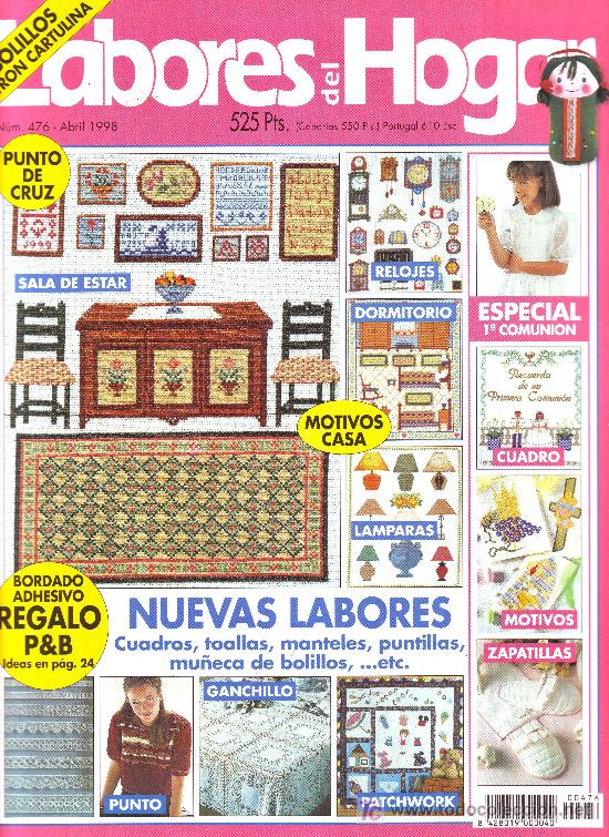 LABORES DEL HOGAR Nº 476. MOTIVOS DE PRIMERA COMUNION (Coleccionismo - Revistas y Periódicos Modernos (a partir de 1.940))