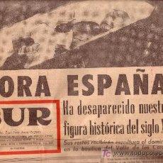 Coleccionismo de Revistas y Periódicos: -45362 DIARIO SUR, MUERTE DE FRANCO, VIERNES 21 DE NOVIEMBRE 1975 . Lote 25170334