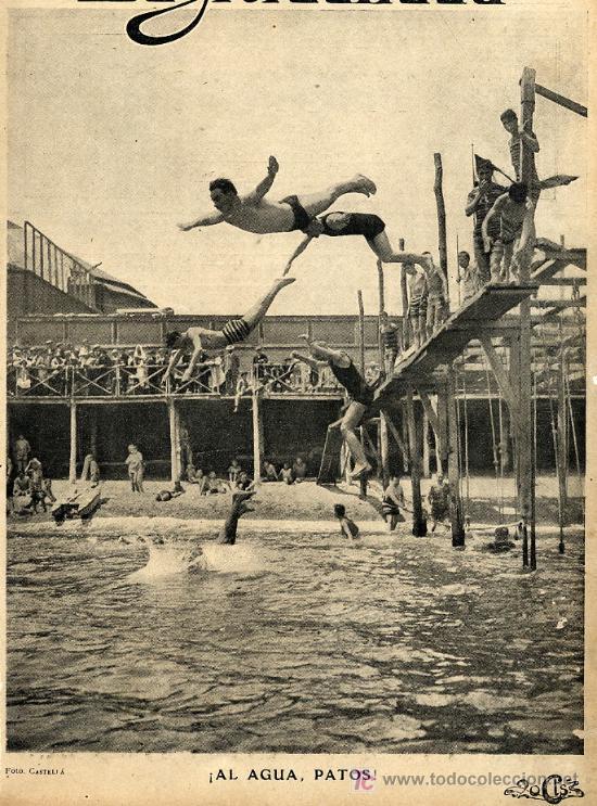 Banos San Sebastian.Barcelona 1911 Banos San Sebastian Hoja Revista