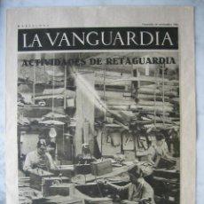 Coleccionismo de Revistas y Periódicos: LA VANGUARDIA AÑO 1936. GUERRA CIVIL. EN PORTADA: ACTIVIDADES DE RETAGUARDA. Lote 27100596