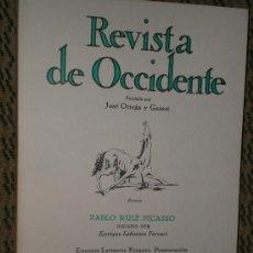 Coleccionismo de Revistas y Periódicos: PABLO RUÍZ PICASSO. NÚMERO MONOGRÁFICO DE REVISTA DE OCCIDENTE.. Lote 25158747