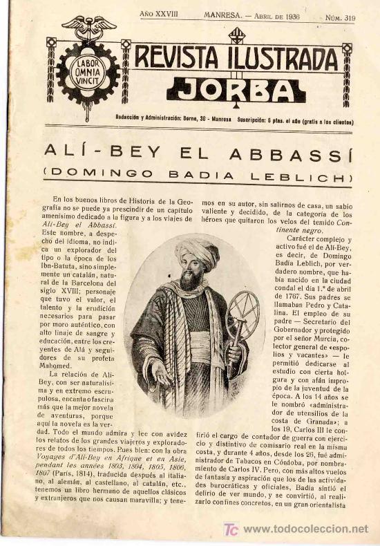 revista jorba núm 319. reportaje ali-bey y inte - Comprar Revistas y ...