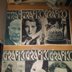 Coleccionismo de Revistas y Periódicos: MUNDO GRAFICO ¡ LOTE DE 6 REVISTAS ! AÑOS 30. Lote 7564016