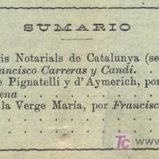 Coleccionismo de Revistas y Periódicos: REAL ACADEMIA DE BUENAS LETRAS DE BARCELONA. BOLETÍN. NÚMERO 73. AÑO 1921. MÁS NÚMEROS. Lote 7576570