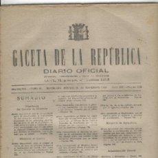 Coleccionismo de Revistas y Periódicos: GACETA. AÑO 1938.GUERRA CIVIL. CIUDAD REAL.TOLEDO. GRANADA.ALMERIA. JAEN.CALAHORRA.COLOMERA.ALBONDON. Lote 22532282