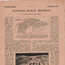 Coleccionismo de Revistas y Periódicos: CÓMO ERA ROMA: LA CIUDAD ETERNA RESTAURADA- 1910. Lote 18103513