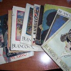 Coleccionismo de Revistas y Periódicos: LOTE DE 10 REVISTAS DE BLANCO Y NEGRO. Lote 8041956