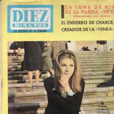 Coleccionismo de Revistas y Periódicos: DIEZ MINUTOS. AGNES SPAAK EN PORTADA.REVISTA Nº 714 -1º MAYO 1965. PRECIO ORIGINAL 6 PESETAS. Lote 26376735