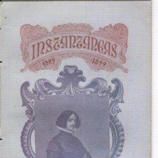 Coleccionismo de Revistas y Periódicos: REVISTA INSTANTANEAS. AÑO 1899. CENTENARIO DE DIEGO VELAZQUEZ.DE SILVA.CORDOBA.MALAMUERTA.. Lote 14370128