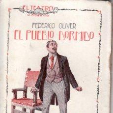Coleccionismo de Revistas y Periódicos: EL TEATRO MODERNO.AÑO 1926 Nº 42 -EL PUEBLO DORMIDO DE FEDERICO OLIVER.PRENSA MODERNA. Lote 71656541