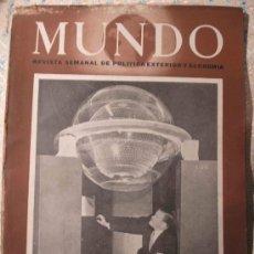 Coleccionismo de Revistas y Periódicos: MUNDO 332. Lote 24078481