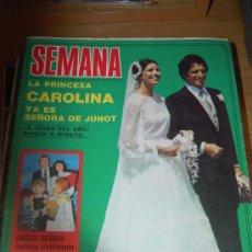 Coleccionismo de Revistas y Periódicos: BODA DE CAROLINA DE MÓNACO Y PHILIPPE JUNOT. CON PÓSTER A DOBLE PÁGINA DE LOS NOVIOS.. Lote 20224046
