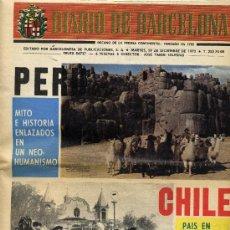 Coleccionismo de Revistas y Periódicos: DIARIO DE BARCELONA. 19 DE DICIEMBRE DE 1972. Lote 8669867
