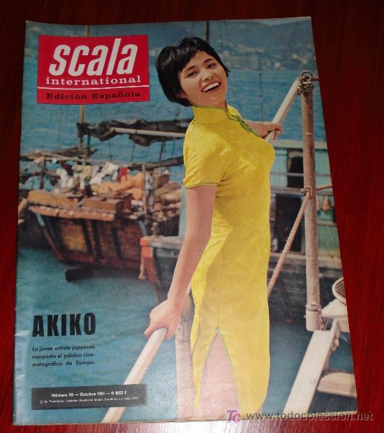 REVISTA SCALA INTERNACIONAL- EDICION ESPAÑOLA - Nº10 OCTUBRE 1961 - AKIKO (Coleccionismo - Revistas y Periódicos Modernos (a partir de 1.940) - Otros)