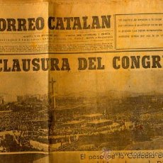 Coleccionismo de Revistas y Periódicos: CORREO CATALAN CONGRESO EUCARISTICO EN BARCELONA DE 1952. Lote 8922015