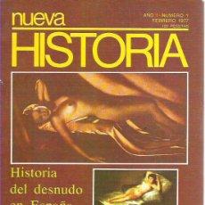 Coleccionismo de Revistas y Periódicos: NUEVA HISTORIA AÑO 1 NUM 1 *** R. DE LA CIERVA ***FEB 1977. Lote 14561171