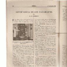 Coleccionismo de Revistas y Periódicos: REVISTA IBERICA 150.AÑO1948.ANTARTIDA.CACAHUETE.. Lote 9080288