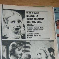 Coleccionismo de Revistas y Periódicos: JUAN BAU, ANGIE DICKINSON, ESPACIO 1999, MEGGY ( AZAFATA UN, DOS, TRES...), ANN MARGRET, ROGER MOORE. Lote 20716182