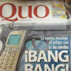 Coleccionismo de Revistas y Periódicos: REVISTA QUO Nº 66 DE MARZO 2001. LA CIENCIA INVESTIGA EL PELIGRO REAL DE LOS MÓVILES, ..... Lote 9094359