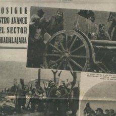 Coleccionismo de Revistas y Periódicos: LA VANGUARDIA 1937 GUERRA CIVIL ESPAÑOLA FOTOS DE LETUX FRENTE DE GUADALAJARA COGOLLOR LECERA YELA. Lote 23702667