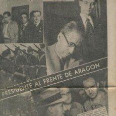 Collectionnisme de Revues et Journaux: LA VANGUARDIA 1937 GUERRA CIVIL COMPANYS HIJAR SERIÑENA BUJARALOZ QUIJORNA VILLANUEVA DE LA CAÑADA. Lote 23702466