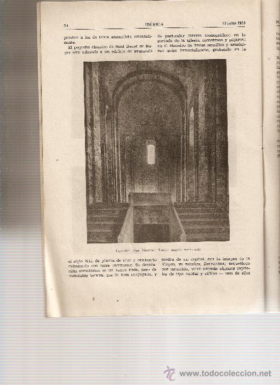 REVISTA IBERICA 381 . AÑO 1958. RIO MANZANARES.ROMANICO BAGES.MANRESA.PANTANO SANTILLANA. (Coleccionismo - Revistas y Periódicos Modernos (a partir de 1.940) - Otros)