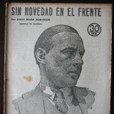 Coleccionismo de Revistas y Periódicos: REVISTA LITERARIA, NOVELAS Y CUENTOS - SIN NOVEDAD EN EL FRENTE - ERICH MARIA REMARQUE. Lote 20733605