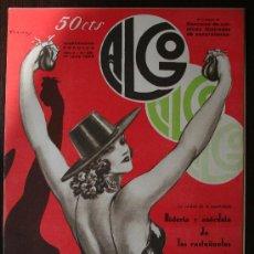 Coleccionismo de Revistas y Periódicos: ALGO, ILUSTRACIÓN POPULAR - AÑO V Nº 201, JUNIO 1933. Lote 9239870