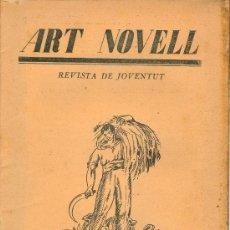 Coleccionismo de Revistas y Periódicos: ART NOVELL. REVISTA DE JOVENTUT (NÚM. 14, FEBRER 1925). Lote 169981540