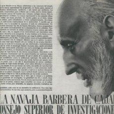 Coleccionismo de Revistas y Periódicos: REVISTA 1950 RAMON Y CAJAL 50 AÑOS DE AVIACION PICASSO DALI GRIS JOAN MIRO ATHELETIC DE BILBAO 1903. Lote 9418759