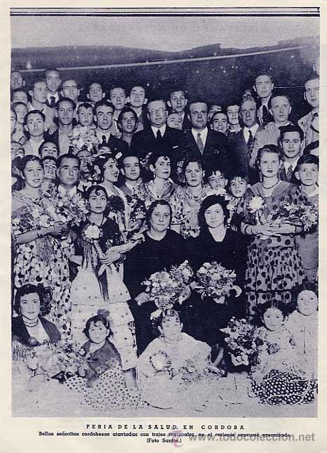 FERIA DE LA SALUD, EN CORDOBA. FOTO SANTOS. PAGINA DE REVISTA DE 1936 (Coleccionismo - Revistas y Periódicos Modernos (a partir de 1.940) - Otros)