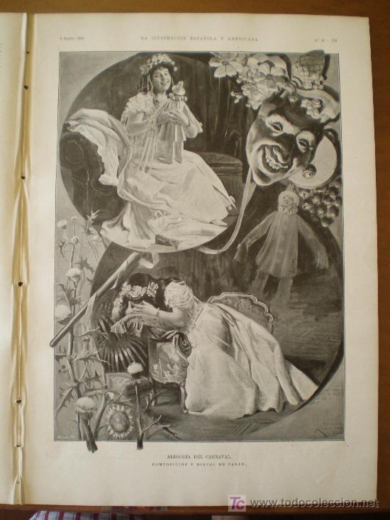 Coleccionismo de Revistas y Periódicos: ALEGORIA DEL CARNAVAL: COMPOSICION Y DIBUJO DE PALAO - Foto 3 - 117825855