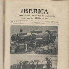 Coleccionismo de Revistas y Periódicos: IBERICA 351 AÑO 1920 LOS TALLERES KRUPP LOCOMOTORA FERROCARRIL TREN ESSEN. Lote 19850753
