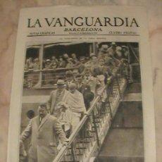 Coleccionismo de Revistas y Periódicos: ANTIGUO DIARIO LA VANGUARDIA BARCELONA NOTAS GRAFICAS CUATRO PAGINAS 16 DE SEPTIEMBRE DE 1931. Lote 288860373
