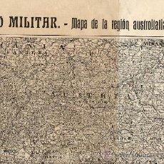 Coleccionismo de Revistas y Periódicos: AUSTRO-ITALIANO 1915 MAPA 1915 2 HOJAS REVISTA. Lote 9686787