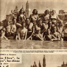 Coleccionismo de Revistas y Periódicos: ZARAGOZA 1931 EL PILAR BAÑISTAS HOJA REVISTA. Lote 9702869