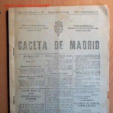 Coleccionismo de Revistas y Periódicos: ¡¡¡OJO!!! GACETA DE MADRID Nº 125. 5 MAYO 1923. Y Nº 110 JUEVES 26 ABRIL 1923. 96 PÁGINAS EN TOTAL.. Lote 25792668