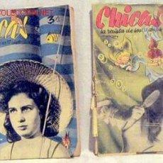 Coleccionismo de Revistas y Periódicos: CHICAS LA REVISTA DE LOS 17 AÑOS Nº 54 8 JULIO 1951 Y Nº FEBRERO AÑOS 50 ROTA FALTA PRIMERA PÁGINA. Lote 1280535