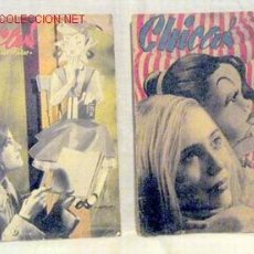 Coleccionismo de Revistas y Periódicos: CHICAS LA REVISTA DE LOS 17 AÑOS Nº 37 11 MARZO 1951 Y Nº 18 22 OCTUBRE 1950 PUBLICIDAD BEBÉ INGLÉS. Lote 1280558