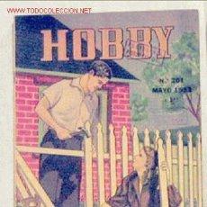Coleccionismo de Revistas y Periódicos: HOBBY REVISTA ARGENTINA Nº 201 MAYO 1953. Lote 1290700