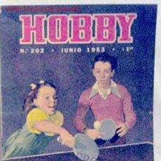 Coleccionismo de Revistas y Periódicos: HOBBY REVISTA ARGENTINA Nº 202 JUNIO 1953. Lote 1290704